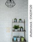 industrial style home interior... | Shutterstock . vector #554239120