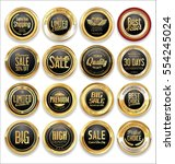luxury retro badge and labels... | Shutterstock .eps vector #554245024
