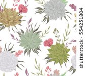 seamless pattern with... | Shutterstock .eps vector #554251804