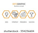 business concept infographic... | Shutterstock .eps vector #554256604