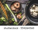 cooking ingredients for asian... | Shutterstock . vector #554264560