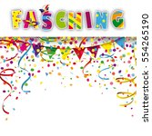 german text fasching  translate ... | Shutterstock .eps vector #554265190