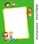 illustration of kids around... | Shutterstock .eps vector #554270848