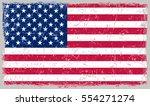 grunge usa flag.vector american ... | Shutterstock .eps vector #554271274