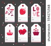 set of st. valentine's day gift ...   Shutterstock .eps vector #554271568