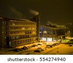 frozen train station   Shutterstock . vector #554274940
