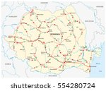 vector road map of the eastern... | Shutterstock .eps vector #554280724