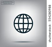 the globe icon. flat vector... | Shutterstock .eps vector #554280988