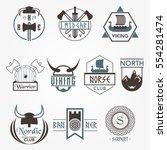 norse vikings style vector... | Shutterstock .eps vector #554281474