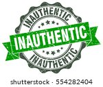 inauthentic. stamp. sticker.... | Shutterstock .eps vector #554282404