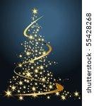 christmas tree   Shutterstock .eps vector #55428268