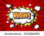 wow  comic speech bubble ... | Shutterstock .eps vector #554286490
