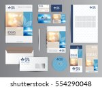 spa identity with logotype.  | Shutterstock .eps vector #554290048