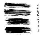 ink vector brush strokes.... | Shutterstock .eps vector #554296126