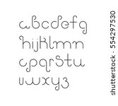 vector linear font   simple... | Shutterstock .eps vector #554297530