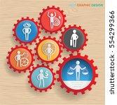 businessman and employee... | Shutterstock .eps vector #554299366
