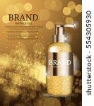 shower gel bottle template for... | Shutterstock .eps vector #554305930