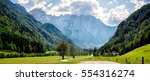 a road through the alps in... | Shutterstock . vector #554316274