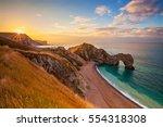 durdle door  dorset  jurassic... | Shutterstock . vector #554318308