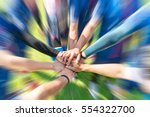 blurred image of soccer players ... | Shutterstock . vector #554322700