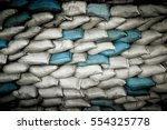 Sand Bags White And Blue Made...