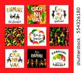 brazil carnival. bright festive ... | Shutterstock .eps vector #554326180