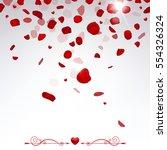 romantic background  confetti... | Shutterstock .eps vector #554326324
