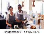 portrait of staff working at... | Shutterstock . vector #554327578