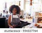 portrait of female employee... | Shutterstock . vector #554327764