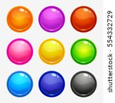glossy round colorful buttons...