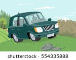 off road vehicle. global color... | Shutterstock .eps vector #554335888