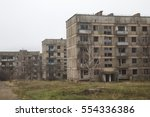 three abandoned apartment... | Shutterstock . vector #554336386