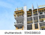 building construction site work ... | Shutterstock . vector #554338810