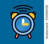 alarm clock icon flat design
