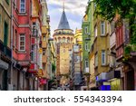 Galata Tower And The Street In...