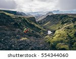 Girl Hiking Iceland On The...