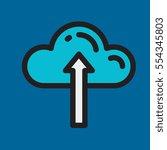 upload cloud icon flat design