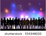 group of people. crowd of... | Shutterstock .eps vector #554348020