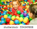 cheerful children playing... | Shutterstock . vector #554349808