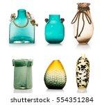 set of ceramic vases isolated...   Shutterstock . vector #554351284