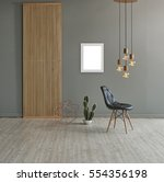 wall in front of modern wooden... | Shutterstock . vector #554356198