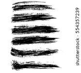 ink vector brush strokes....   Shutterstock .eps vector #554357239