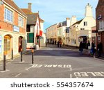 yarmouth  isle of wight  uk.... | Shutterstock . vector #554357674