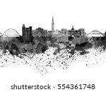 Newcastle Skyline In Black...