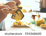 traditional swiss winter meal.... | Shutterstock . vector #554368600