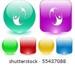 skydiver. vector interface...   Shutterstock .eps vector #55437088