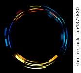 light ring isolated on black... | Shutterstock . vector #554372830