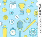 sports line seamless pattern.... | Shutterstock .eps vector #554377264