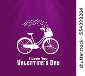 valentine's day background with ... | Shutterstock .eps vector #554398204