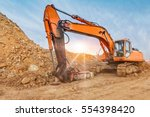 Earth Moving By A Bulldozer In...